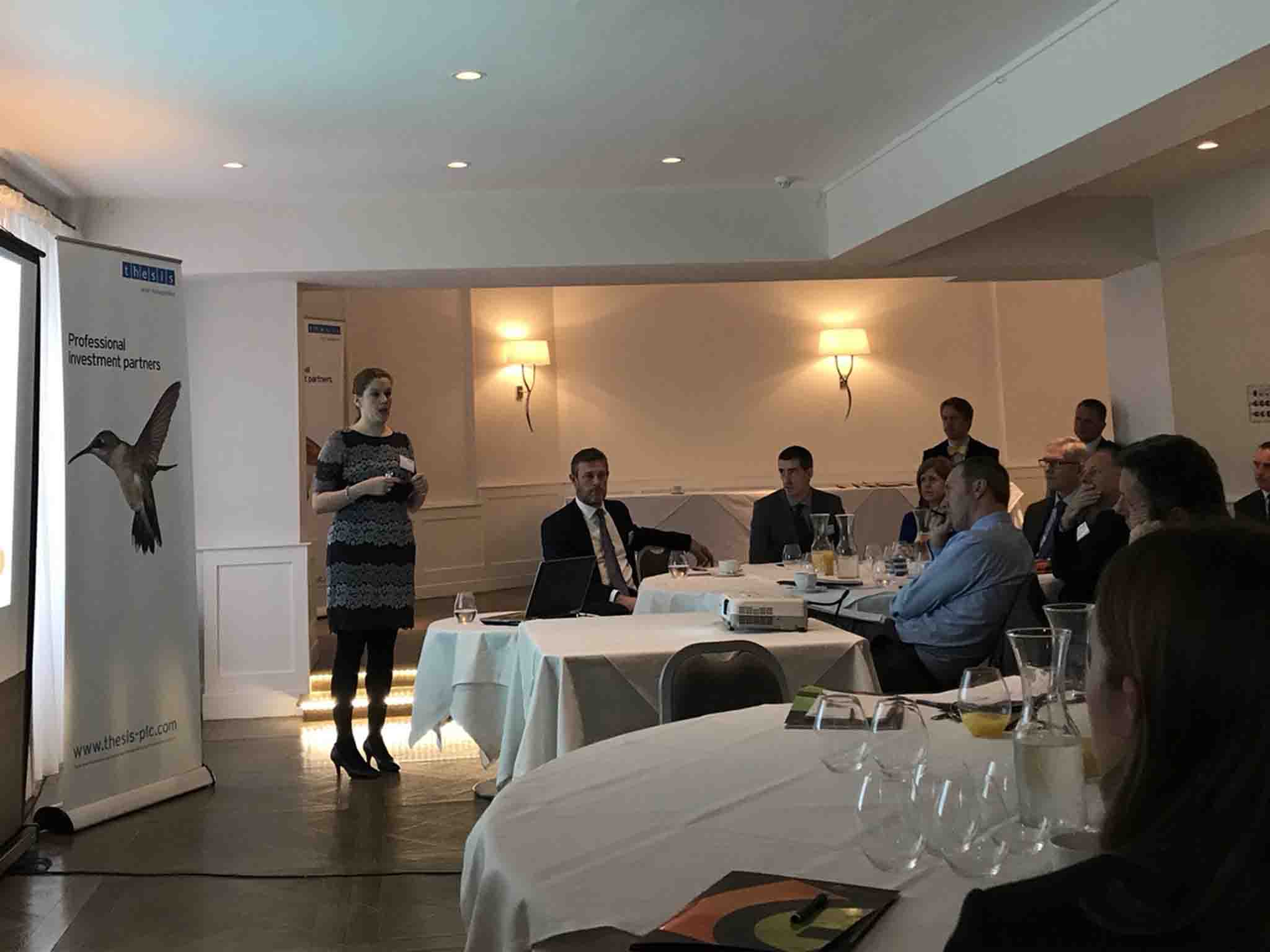Sonia Green presenting to financial advisors