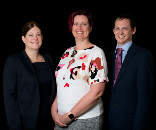 Associate promotions - Cheryl Utting, Lorna Newnham and Oliver Zaki